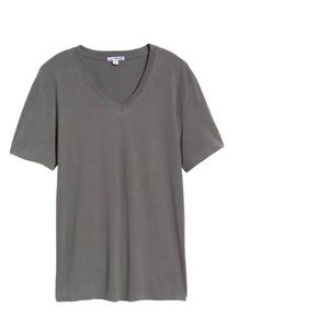 James Perse Men's Gray V Neck Tee